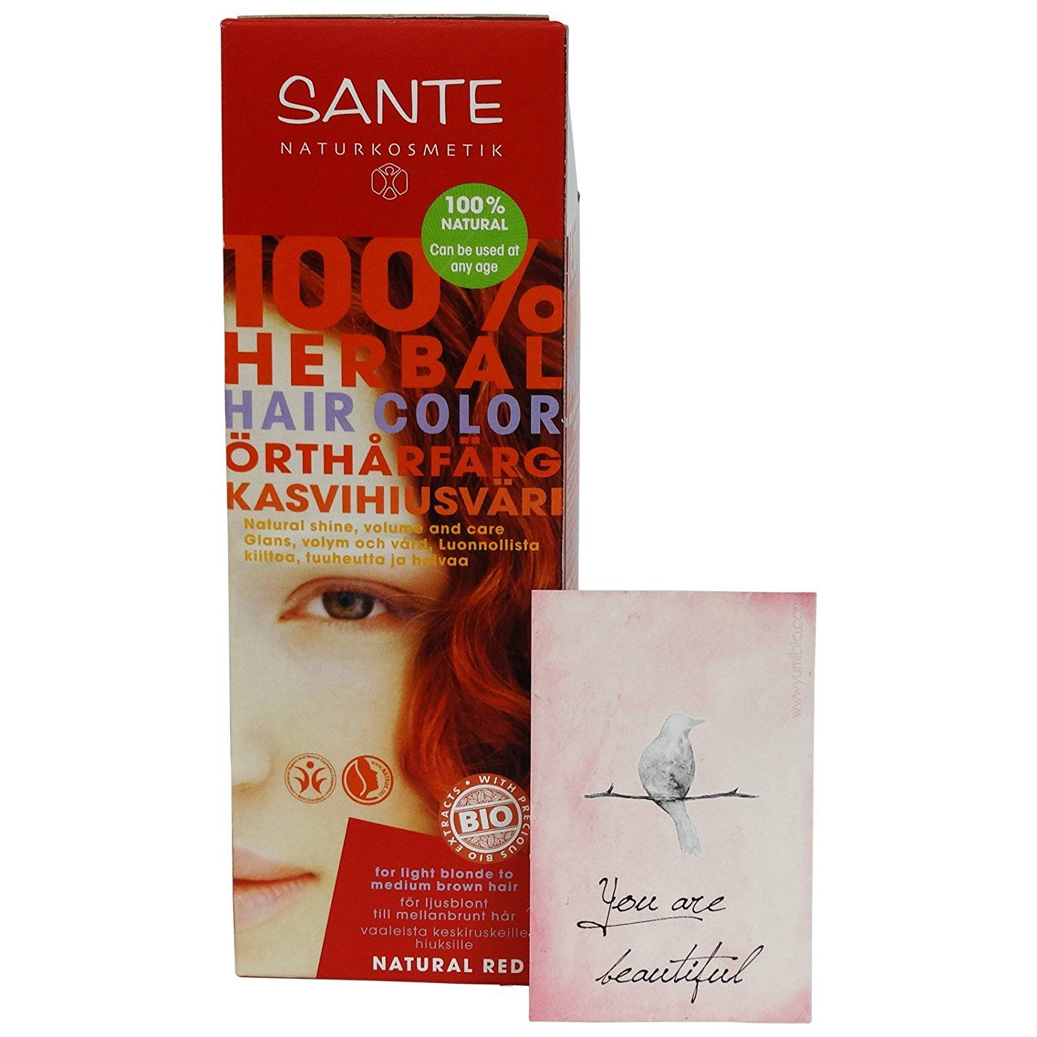 Sante Herbal Hair Color Natural Red Free From Peroxides And Ammonia Free From Synthetic Colo Herbal Hair Colour Hair Color Mahogany Chestnut Hair Color