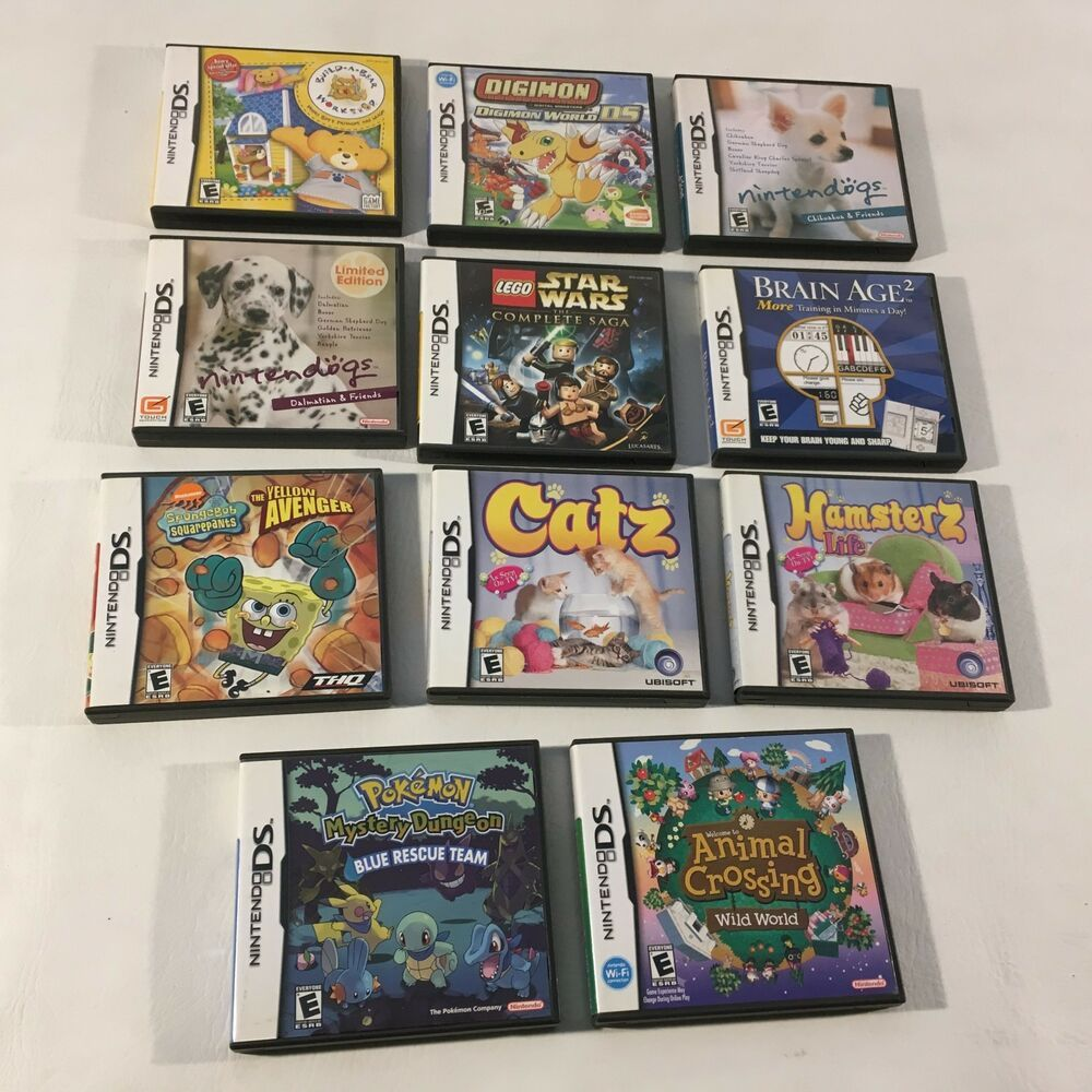 Nintendo DS Empty Game Case Lot 11 Cases Some Manuals No