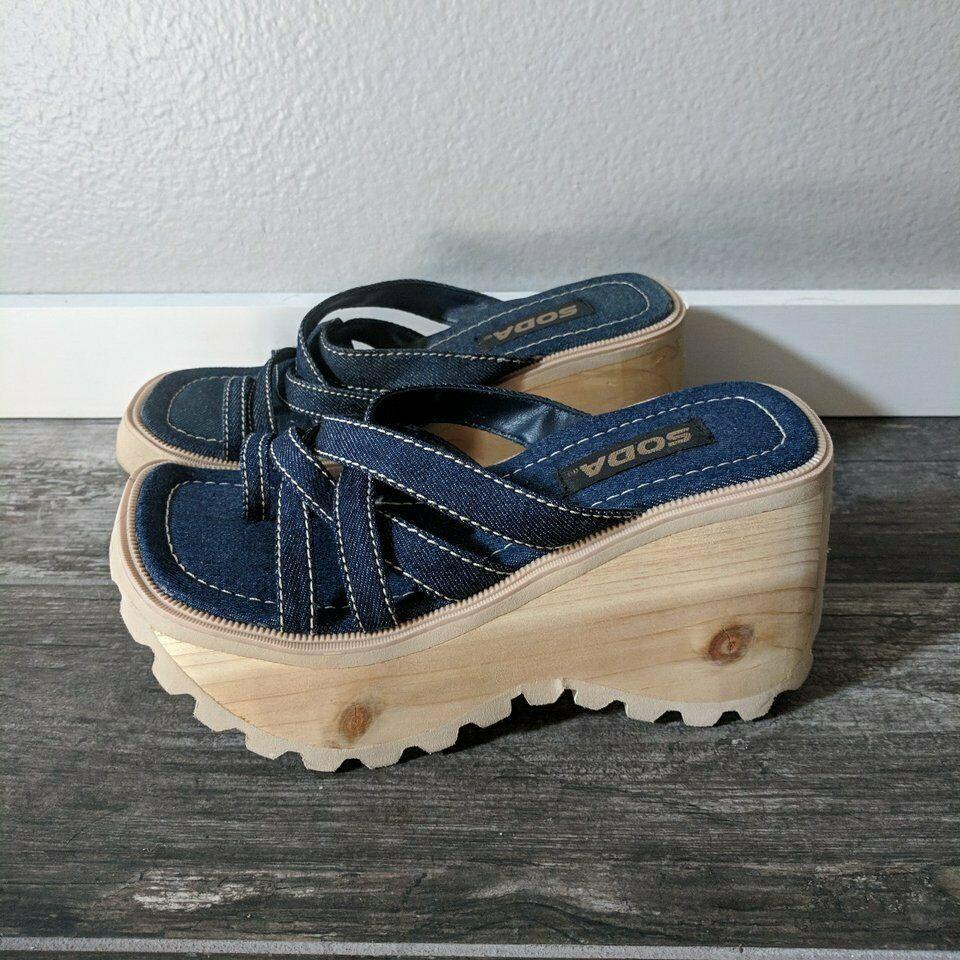 Vintage Soda Platform Shoes Sandals 90s