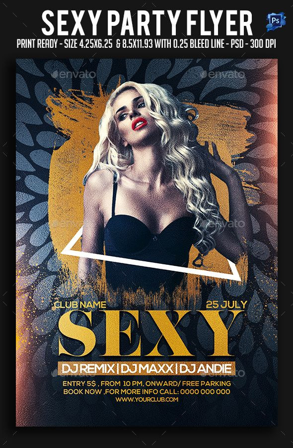 Sexy Party Flyer Party flyer, Font logo and Flyer template