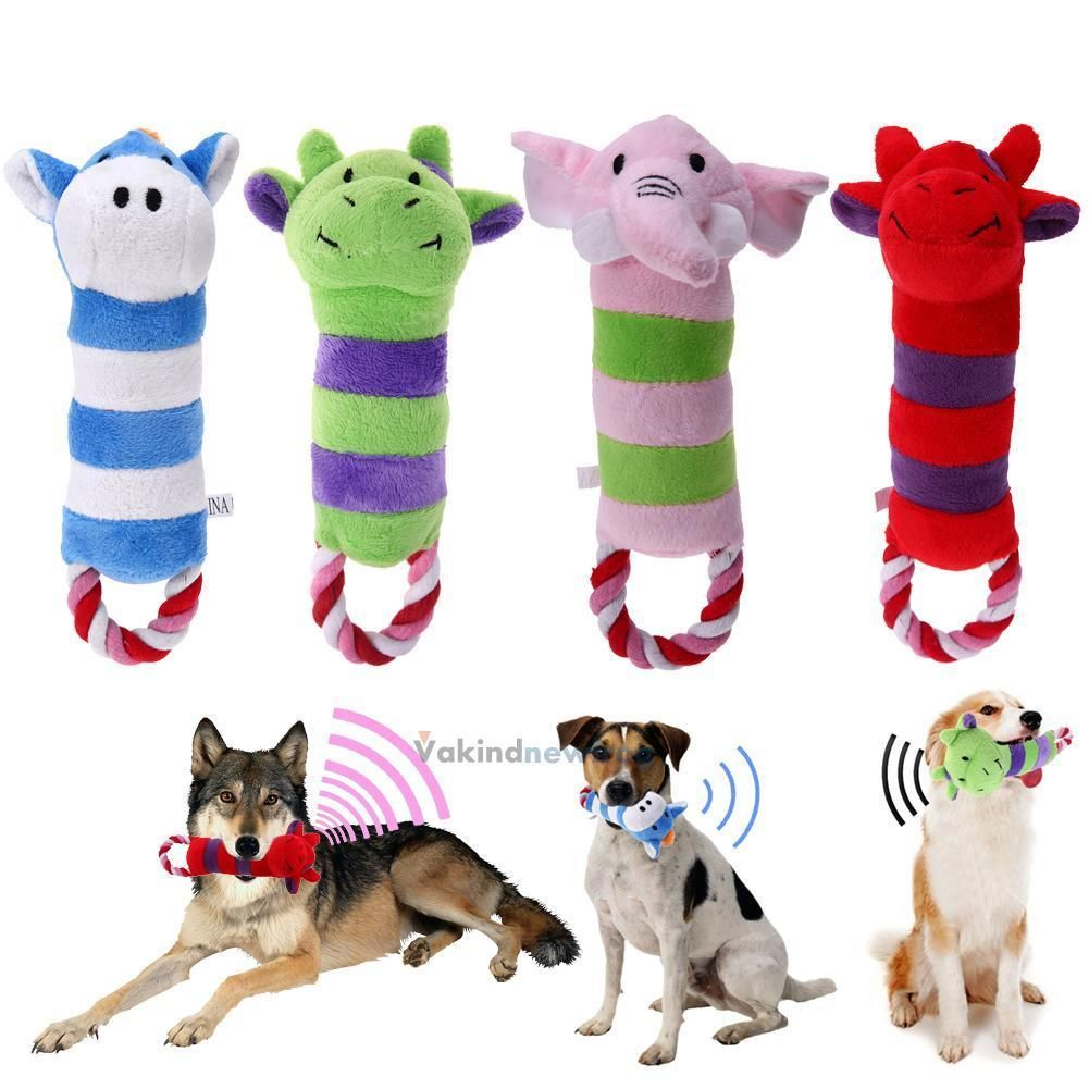 2 89 Cute Puppy Pet Supplies Plush Chew Squeaker Sound Squeaky