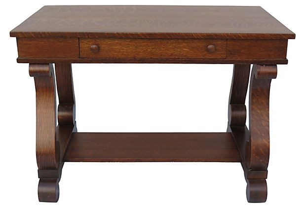 One Kings Lane Empire Style Library Table Library Table Home