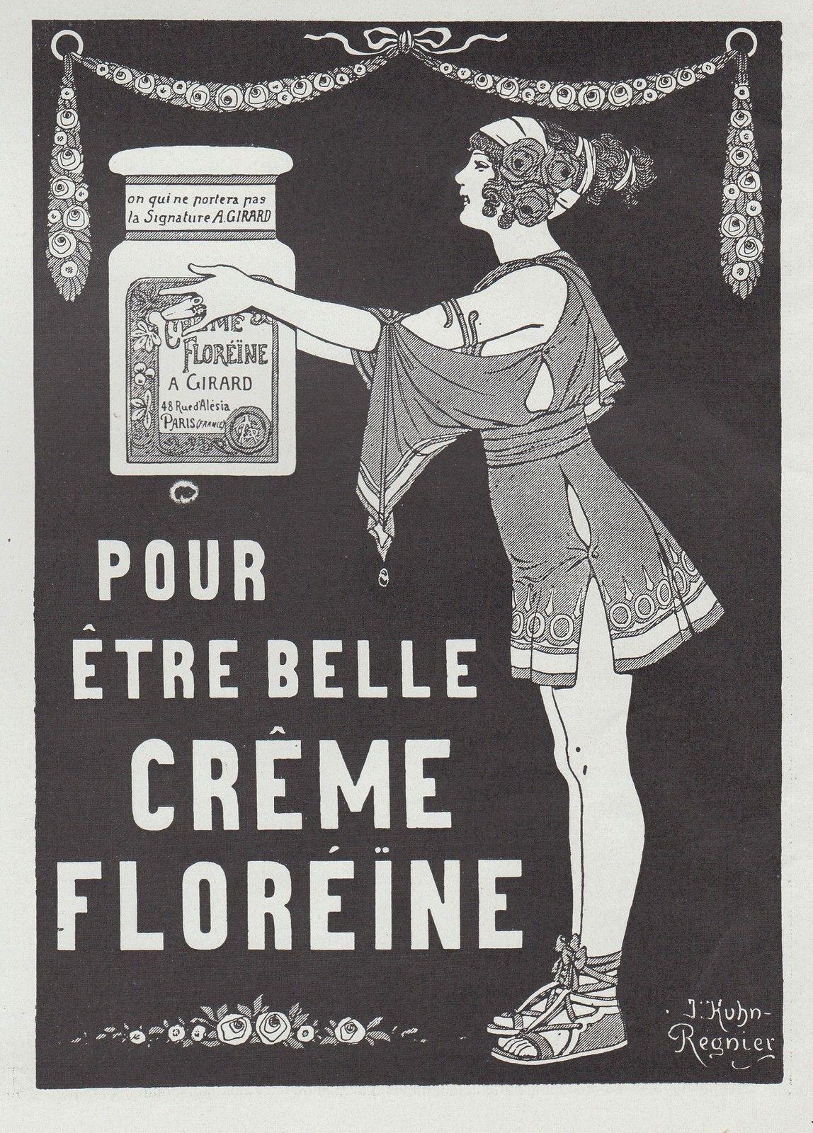 PUBLICITE CREME FLOREINE COSMETIQUE SOINS VISAGE COSMETIC