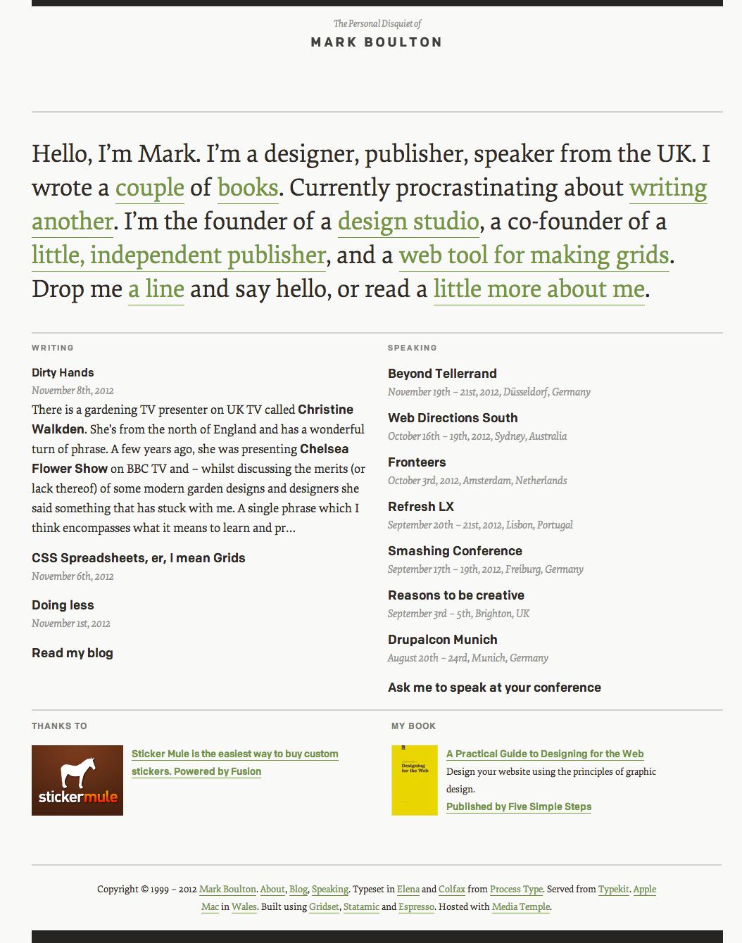 Mark Boulton S Site Visual Design Interactive Marks