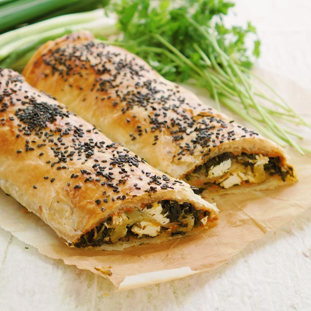 Photo of Börek with spinach and pesto Fitness recipe from BODY KITCHEN