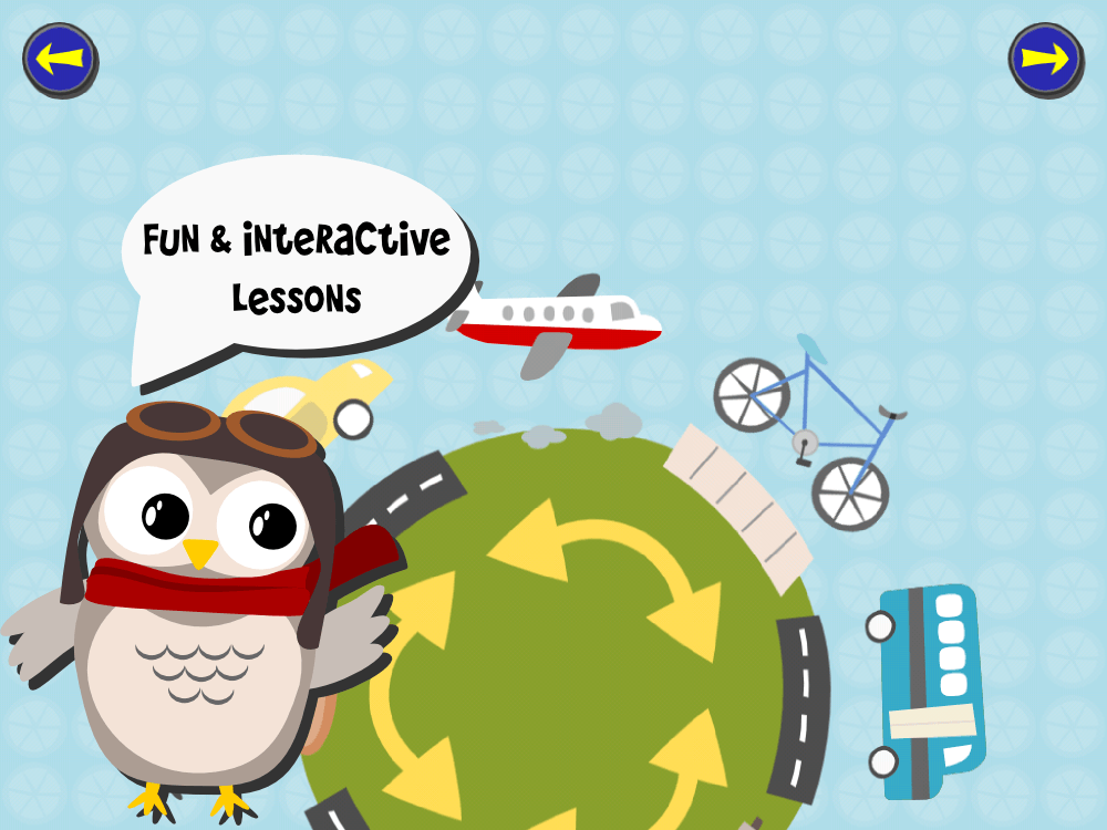 Gus on the Go language app for children Learning