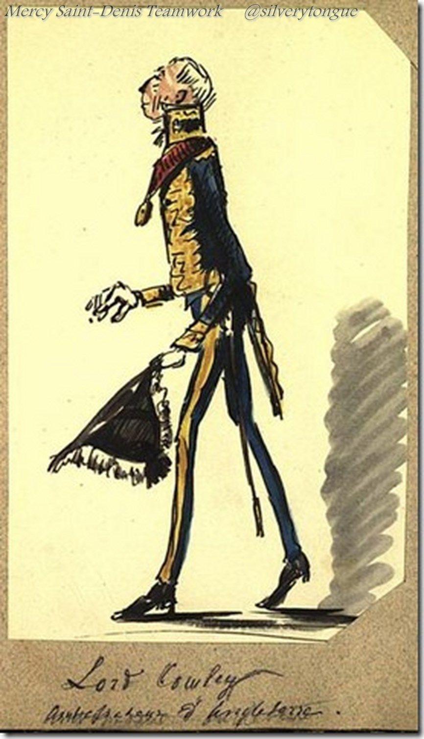 Lord Cowley (1804-1884), plénipotentiaire au congrès de Paris et ambassadeur d'Angleterre en France.