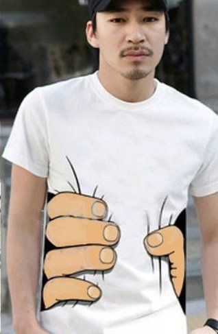 Amazon Com Big Hand Funny Squeeze White Mens T Shirt Clothing