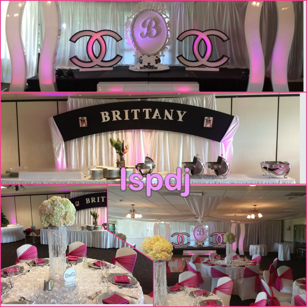 Sweet 16, Chanel stage , Chanel decor , Chanel theme ...