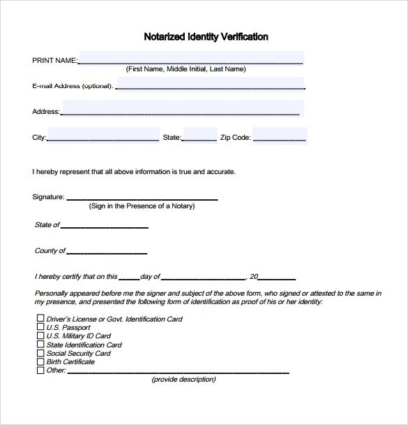 sample notary letter 32 notarized letter templates pdf doc