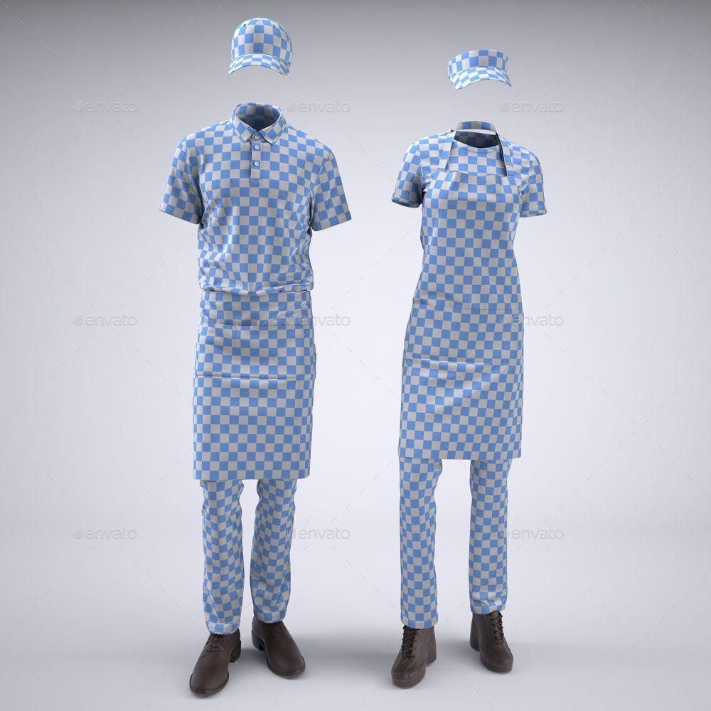 Food Service Uniforms And Retail Uniforms Mock Up Food Service Uniforms Uniform Food Service