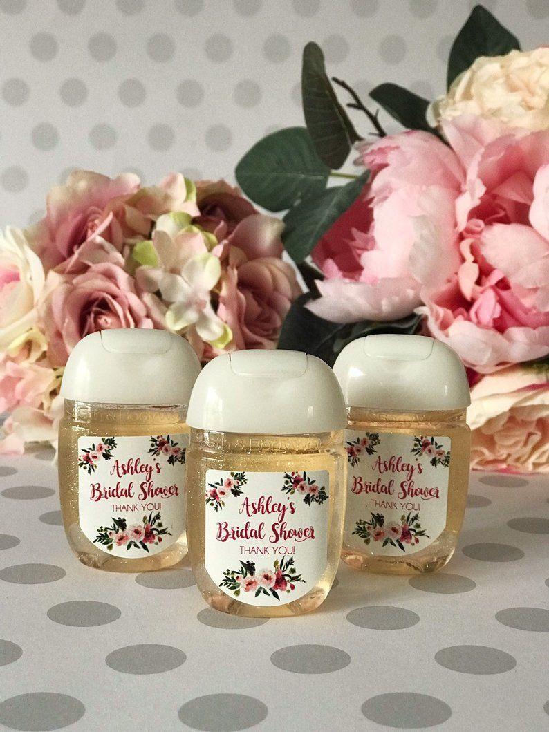 Wedding Favors Hand Sanitizer Labels Bridal Shower Favors