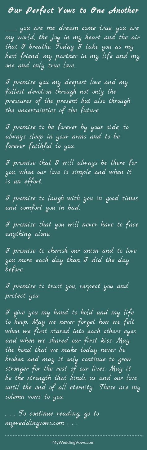 Awesome Wedding Vows Best Photos Friend Sch Quotes
