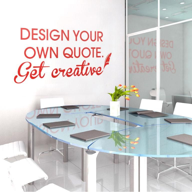 Design a quote Wall Sticker! - Large - 100 x 55cm