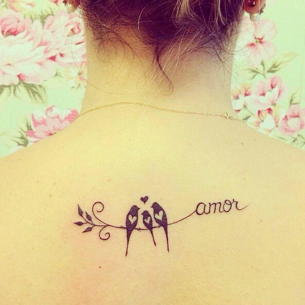 Tatuaje Pajaritos Para Mí Tatuajes Femeninos Tatuajes Y