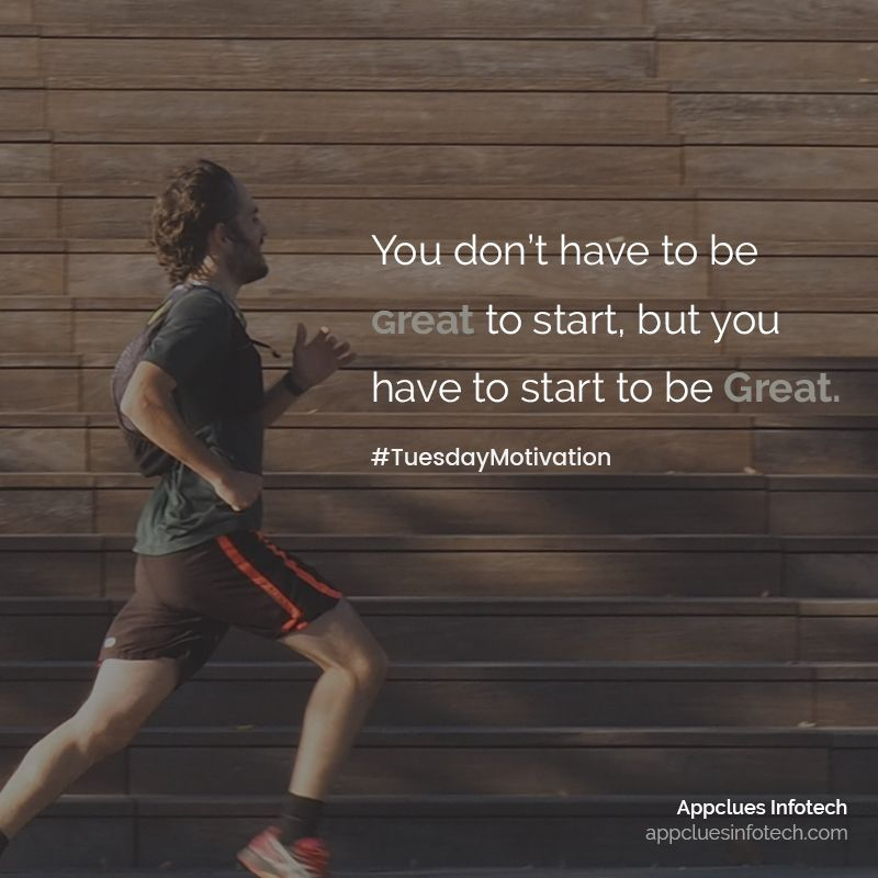 You don't have to be great to start, but you have to start