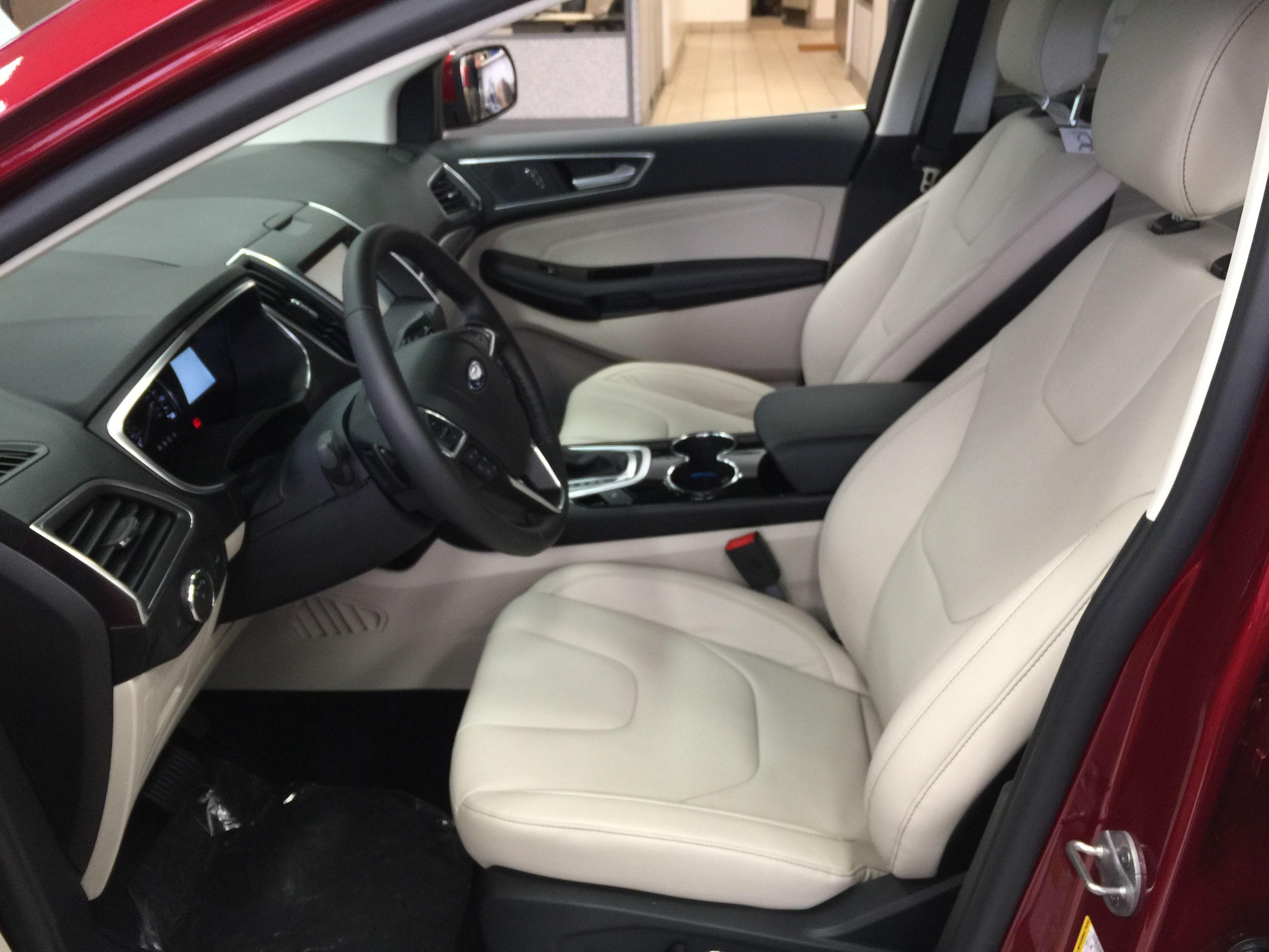 2015 Ford Edge Titanium light color seats interior
