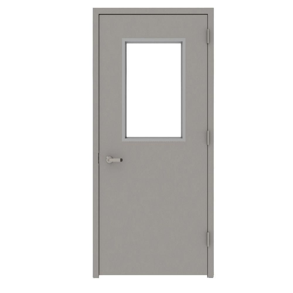 L I F Industries 36 In X 80 In Gray Vision 1 2 Lite Left Hand Steel Prehung Commercial Door With Welded Frame Uwhg3680l The Home Depot Wired Glass Drywall Construction Raw Steel