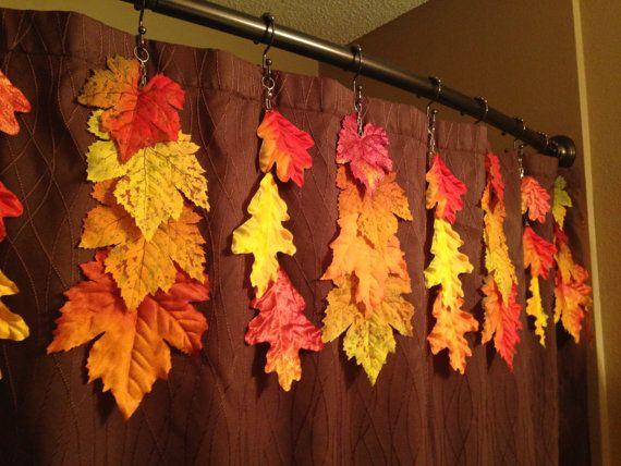 Autumn Leaf Shower Curtain Decoration By Mariesseasonalities Shower Curtain Decor Shower Curtain Fall Decor