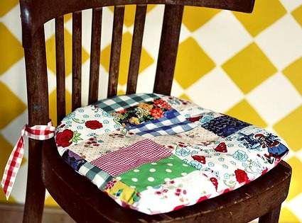 Como hacer cojines para sillas   Imagui | Manualidades | Pinterest