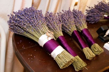 Italian Wedding Flowers Dried Lavender