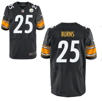 pittsburgh steelers 25 artie burns nike black elite 2016 draft pick jersey
