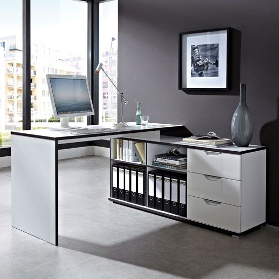 Best Buy Home Furnishings: Arctic Home Office Corner Computer Desk In White In 2019