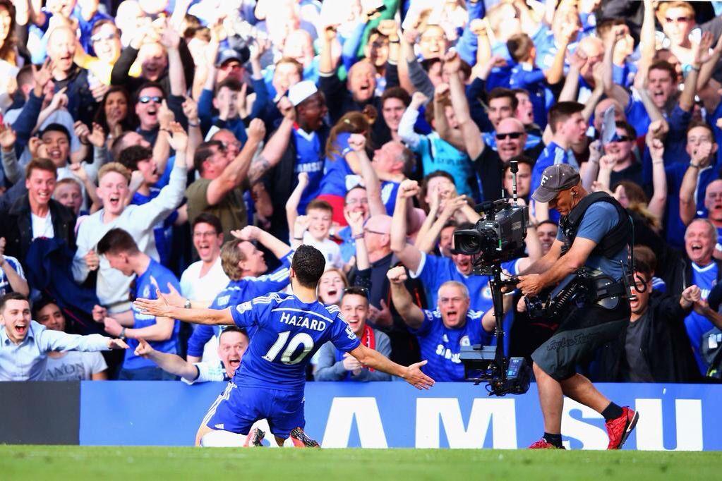 Eden Hazard Celebration His Goal Chelsea 1 0 Man Utd The
