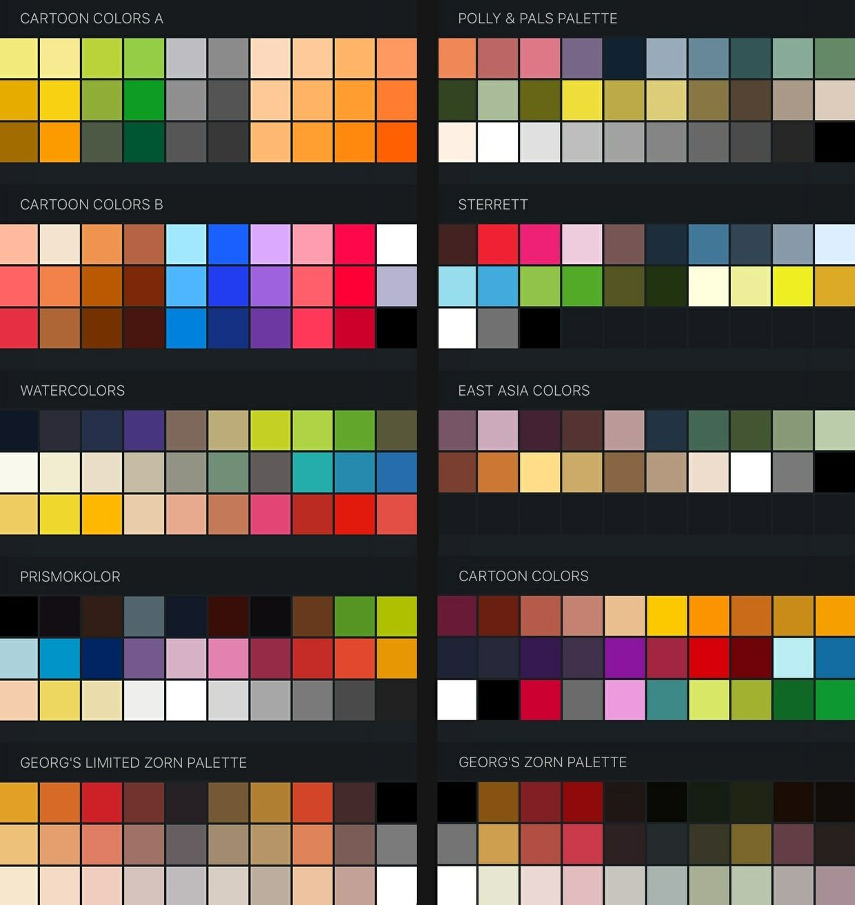 FREE Procreate Color Swatches: 37+ Palettes for Painting and Drawing