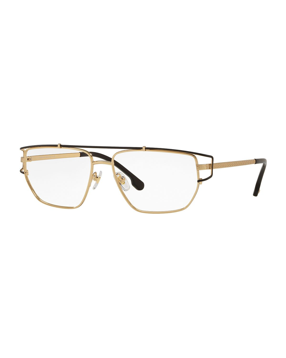 8cecee53e14 VERSACE MEN S METAL WRAP-STYLE OPTICAL GLASSES.  versace