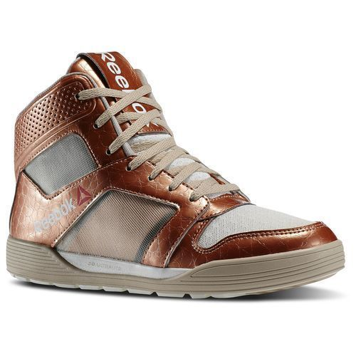 69ac6fa90aed  99 Reebok DANCE URTEMPO MID Women ~Light weight~Zumba~Gold   Copper  Accents -Daring  Reebok  MidTop