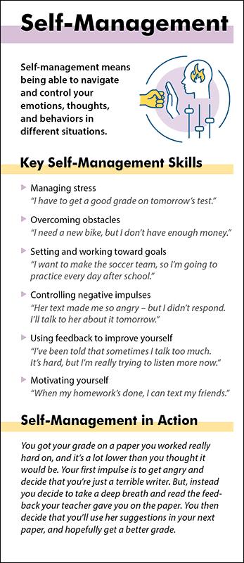 Self Management Social Emotional Learning Management Skills Self