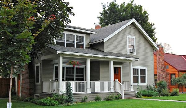 Copley Gray And Sea Pearl Benjamin Moore House Exterior Color Schemes Painted Brick House Exterior House Color