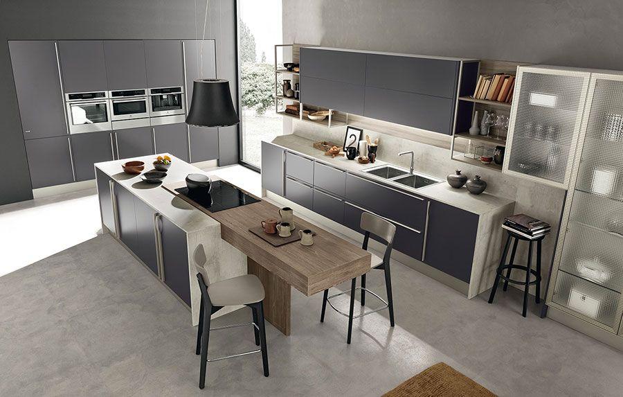 Cucine Moderne Grigie 22 Modelli Delle Migliori Marche Mondodesign It Arredo Interni Cucina Interni Della Cucina Cucine