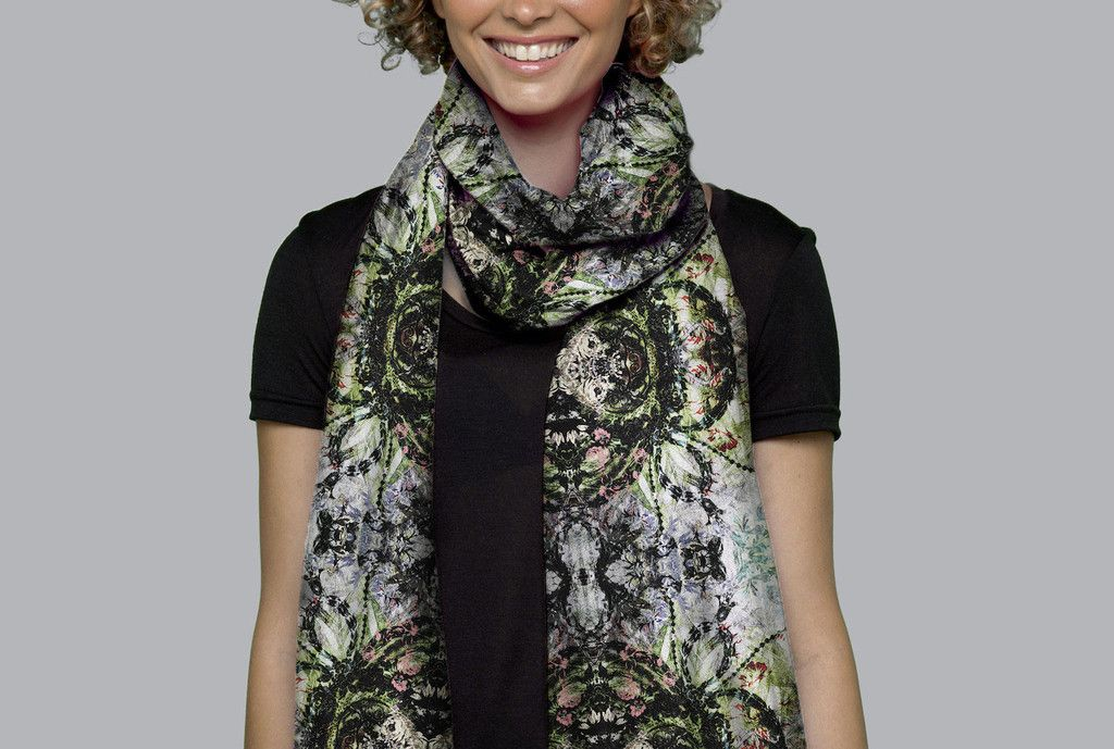 Cashmere Silk Scarf - Native by VIDA VIDA MV5DM