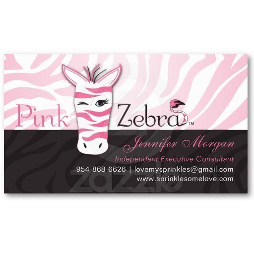 Free Pink Zebra Business Card Templates Pink Zebra Party Pink Zebra Pink Zebra Consultant