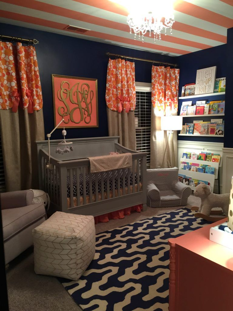 Navy and Coral Nursery on Project Nursery
