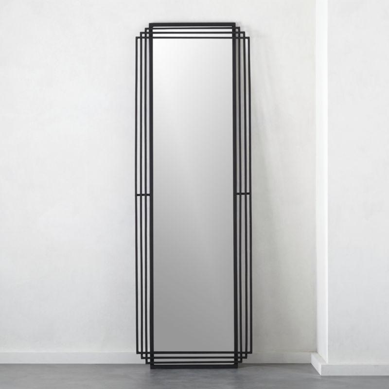 Shop Myrtle Rectangle Floor Mirror 24 X72 Art Deco Gets A Streamlined Twist In Striking Floor Mirror Squared Iron R Floor Mirror Modern Floor Mirrors Mirror 24 x 72 mirror
