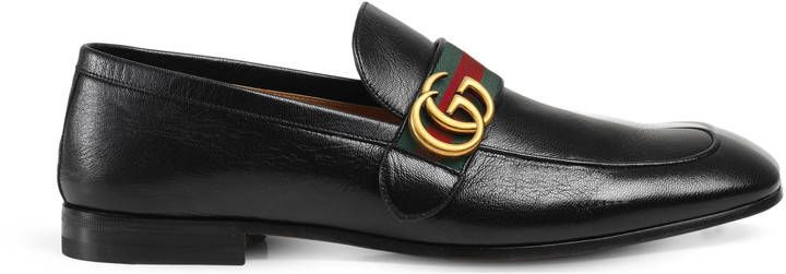 0a9de4c2a66 Gucci Leather loafer with GG Web