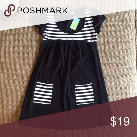 Forever 21 Shirt Dress Forever 21 NWT Black Dress with stripes! 💕 Forever 21 Dresses