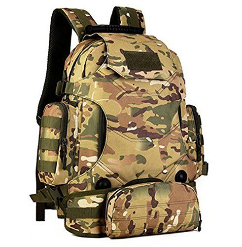 Eternal Heart Tactical Military MOLLE Backpack Pack 3 Way Molle Modular  Attachments 40L Waterproof Bag Rucksack with Patch Sport Outdoor Gear CP --  Details ... c21cdea1535bc
