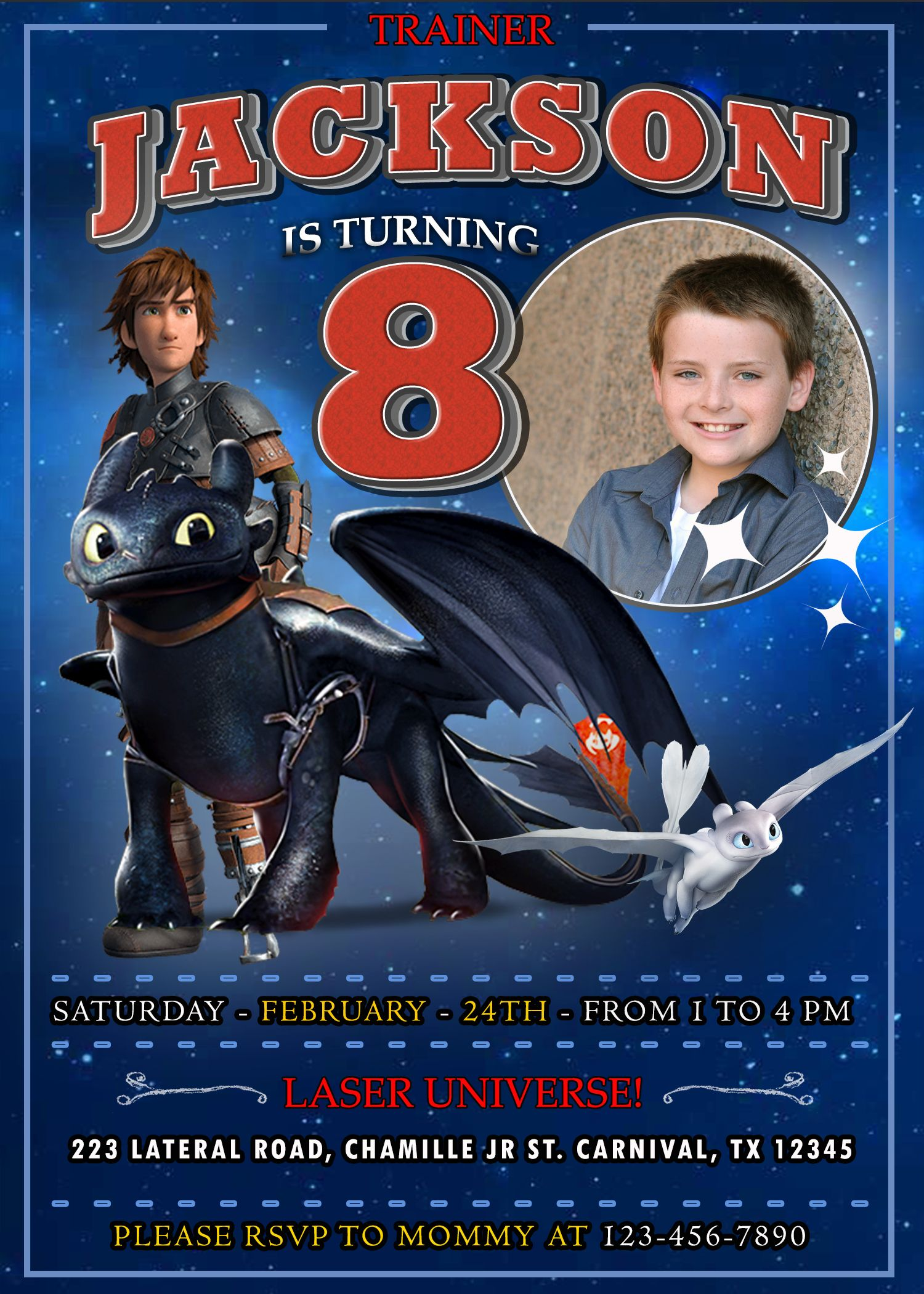 How To Train Your Dragon 3 Birthday Invitation 2 How To Train Your Dragon How Train Your Dragon Dragon Party
