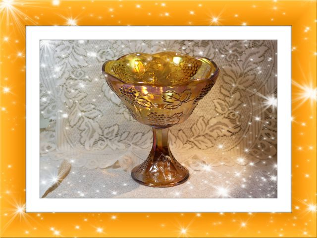 HUGE Carnival Glass Compote Rainbow of Colors. Starting at $30