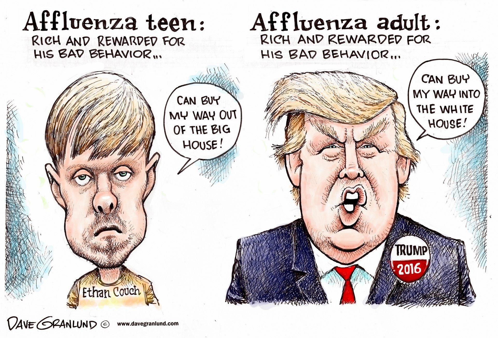 Dave Granlund Cartoon On Donald Trump And Affluenza Teen Ethan