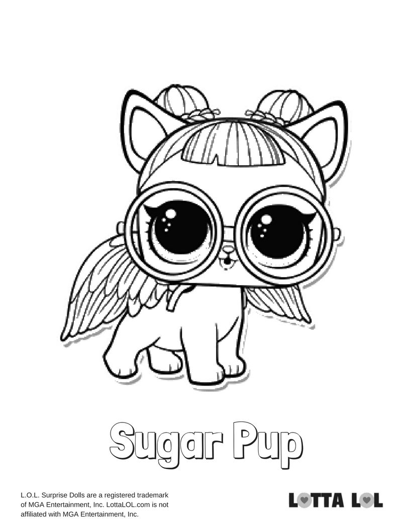 Sugar Pup Coloring Page Lotta Lol Lol Surprise Series 3 Pets
