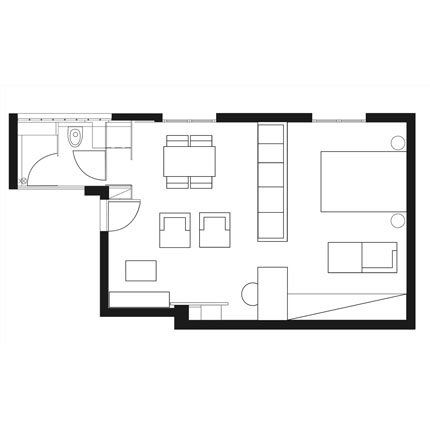 Optimiser l espace dans un appartement de 35 m2 for 35m2 apartment design