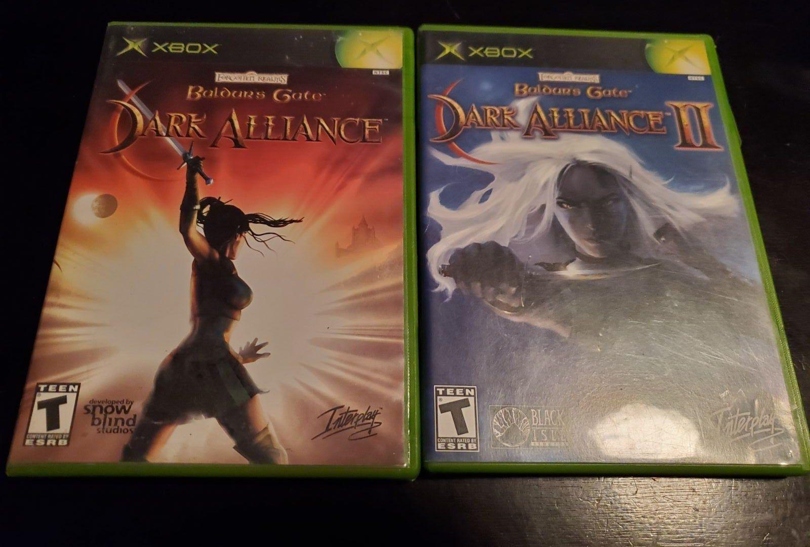 Baldurs Gate Dark Alliance 1 2 Xbox Cleaned And Tested