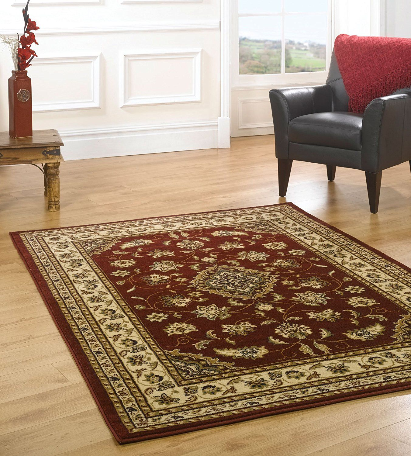 Very Large Quality Traditional Red Rug In 240 X 330 Cm 8 11