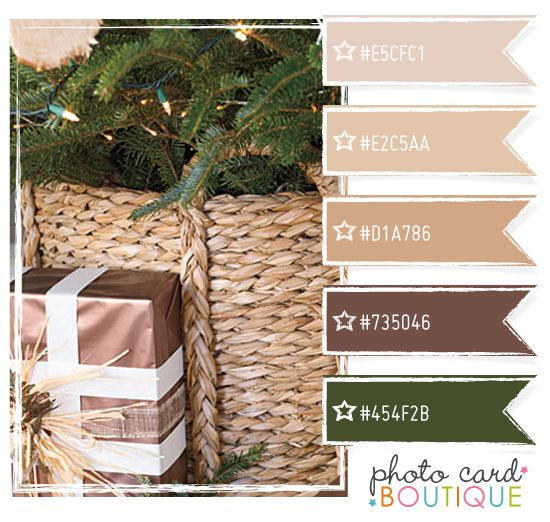 #color Hunter Green, And Shades Of Tan And Brown