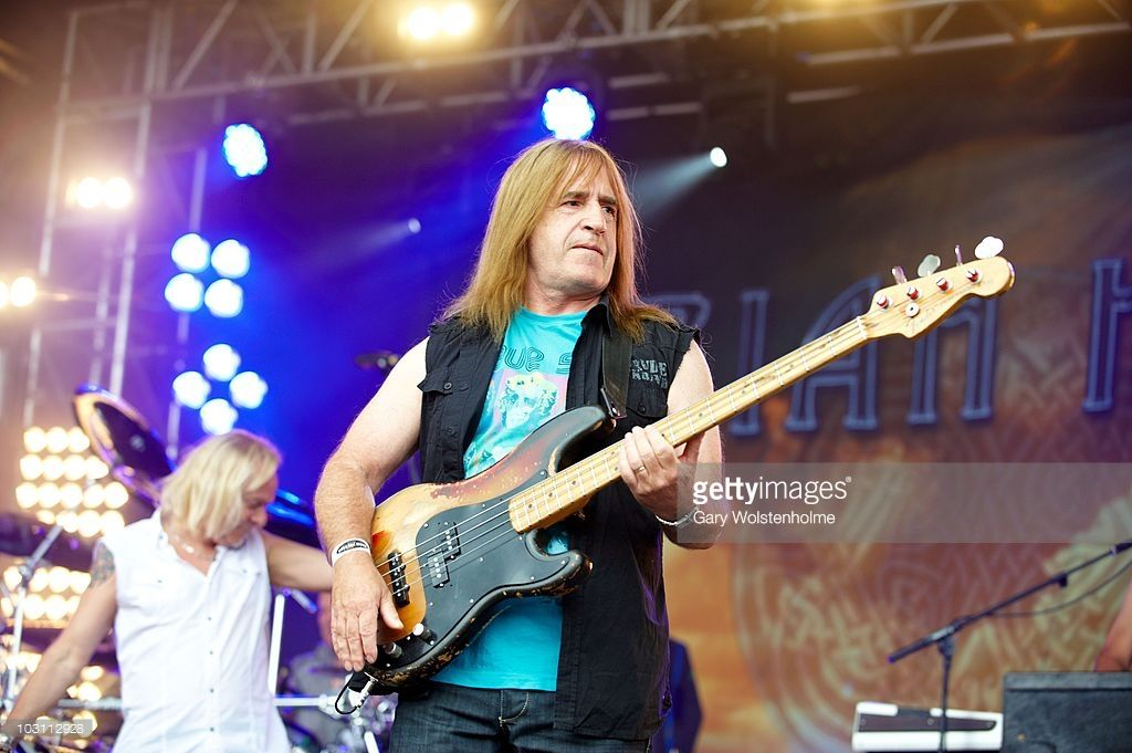 Trevor Bolder of Uriah Heep performs on stage during day two of High Voltage Festival at Victoria Park on July 25, 2010 in London, England.